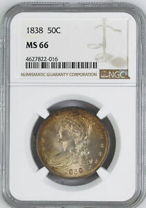 Click now to see the BUY IT NOW Price! 1838 CAPPED BUST 50C NGC MS 66