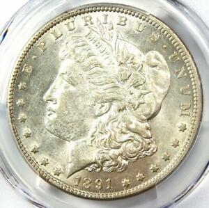 1891 CC MORGAN SILVER DOLLAR $1   PCGS AU55    DATE   LOOKS MS / UNC