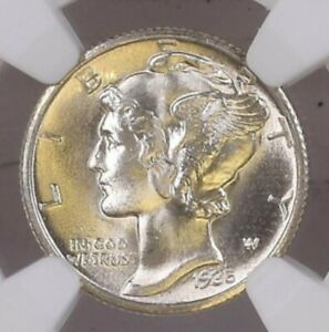 Click now to see the BUY IT NOW Price! NGC 1935 S MS 66. MERCURY HEAD SILVER DIME 10 C