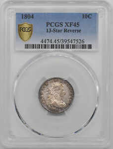 Click now to see the BUY IT NOW Price! 1804 DRAPED BUST 10C PCGS XF 45