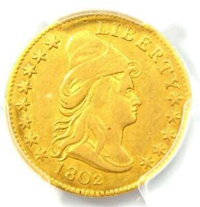 1802/1 CAPPED BUST GOLD QUARTER EAGLE $2.50 COIN   PCGS VF DETAILS    DATE