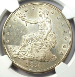 1876 CC TRADE SILVER DOLLAR T$1 COIN   NGC MS61  UNC BU    $8 700 VALUE