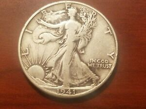Click now to see the BUY IT NOW Price! 1941 D WALKING LIBERTY HALF DOLLAR SILVER COIN 50 CENTS WALKER 50C WWII RELIC