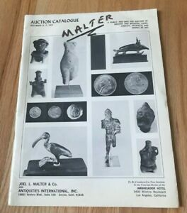 Click now to see the BUY IT NOW Price! AUCTION CATALOGUE DECEMBER 6 7 1971   JOEL MALTER & ANTIQITUIES   WITH COINS