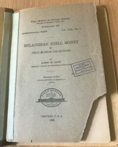 Click now to see the BUY IT NOW Price! MELANESIAN SHELL MONEY IN FIELD MUSEUM COLLECTION BY ALBERT LEWIS   PRINTED 1929