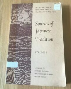 Click now to see the BUY IT NOW Price! SOURCES OF JAPANESE TRADITION VOLUME 1 I BY TSUNODA DE BARY & KEENE   1967