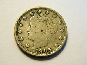 1905 F LIBERTY V NICKEL  NICE  LOW PRICED  VINTAGE COIN FOR A COLLECTION