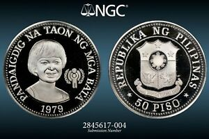 Click now to see the BUY IT NOW Price! 1979 PHILIPPINES 50 PESOS YEAR OF THE CHILD NGC PF68 ULTRA CAMEO UCAM PROOF