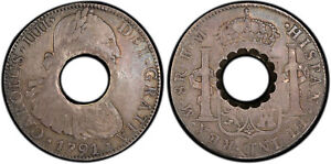 Click now to see the BUY IT NOW Price! DOMINICA.  1798  AR DOLLAR OF 11 BITTS. PCGS VF35. KM 3.3; C 22; PRIDMORE 21.