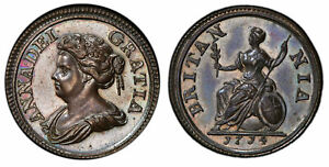 Click now to see the BUY IT NOW Price! GREAT BRITAIN. ANNE 1714 CU PATTERN FARTHING. PCGS SP63BN SCBC 3625
