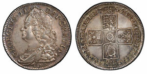 Click now to see the BUY IT NOW Price! GREAT BRITAIN. GEORGE II 1746 AR HALFCROWN. PCGS MS63  SCBC 3695A.