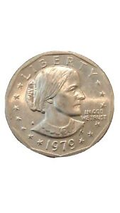 1979  SUSAN B ANTHONY DOLLAR COIN WITH MINT MARK BLOB ERROR