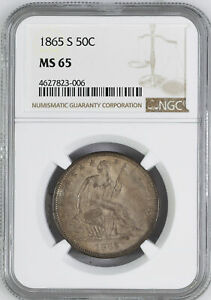 Click now to see the BUY IT NOW Price! 1865 S LIBERTY SEATED 50C NGC MS 65