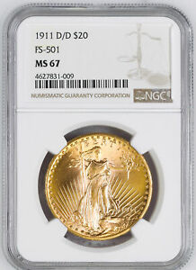 Click now to see the BUY IT NOW Price! 1911 D/D ST. GAUDENS $20 NGC MS 67