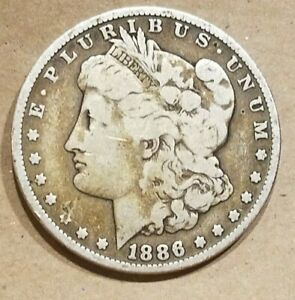 Click now to see the BUY IT NOW Price! 1886 P MORGAN SILVER DOLLAR LIBERTY HEAD $1 COIN AMERICAN EAGLE NICE