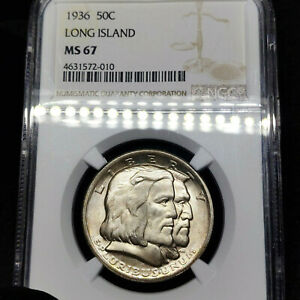 Click now to see the BUY IT NOW Price! 1936 MS67 LONG ISLAND COMMEMORATIVE HALF DOLLAR 50C NGC GRADED