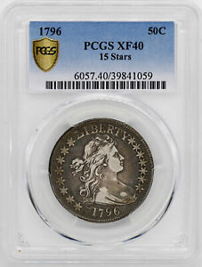 Click now to see the BUY IT NOW Price! 1796 DRAPED BUST 50C PCGS XF 40
