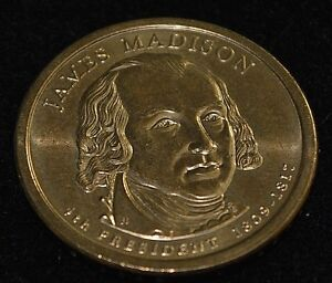 2007 P JAMES MADISON GOLD DOLLAR COIN
