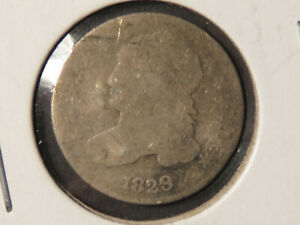 1829 CAPPED BUST DIME BENT
