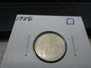 1956   CANADA SILVER 10 CENT   CANADIAN DIME