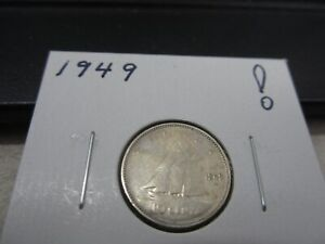 1949   CANADA SILVER 10 CENT   CANADIAN DIME