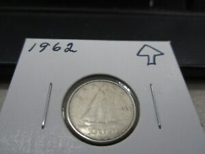 1962   CANADA SILVER 10 CENT   CANADIAN DIME