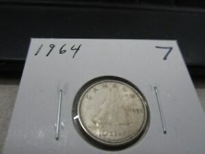 1964   CANADA SILVER 10 CENT   CANADIAN DIME