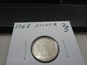 1968   CANADA SILVER 10 CENT   CANADIAN DIME