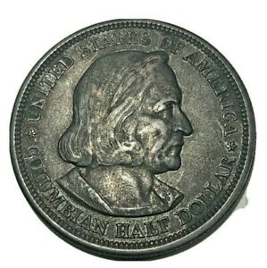 1893 50C WORLD'S COLUMBIAN EXPOSITION COMMEMORATIVE SILVER HALF DOLLAR