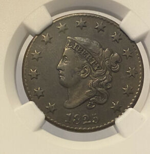 1825 NGC VF25 BN CORONET HEAD LARGE ONE CENT GRADED CERTIFIED NICE OLD PENNY