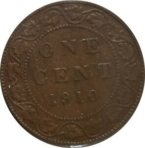 1910 LARGE CENT CANADA EDWARD VII GOOD COIN