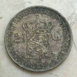 Click now to see the BUY IT NOW Price! 1939 NETHERLANDS 2 1/2 GULDEN   BIG SILVER