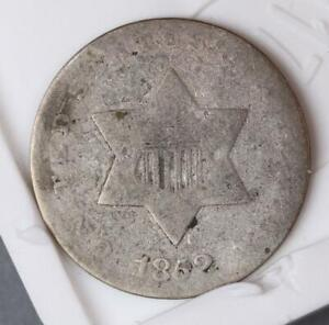 1852 THREE CENT SILVER    DOUBLEJCOINS  4006 32