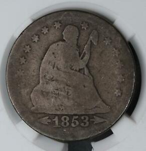1853 SEATED LIBERTY QUARTER ARROWS AND RAYS    DOUBLEJCOINS  4006 29