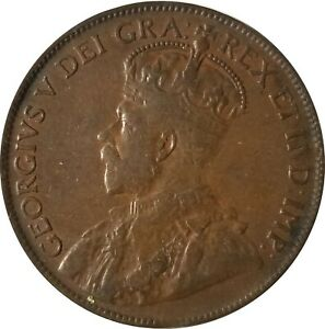 1920 LARGE CENT CANADA PLEASE CONSIDER PHOTOS FOR THE GRADE