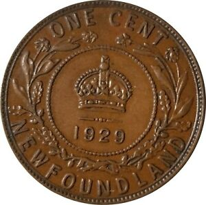 1929 LARGE CENT NEWFOUNDLAND CANADA CIRCULATED SEE PHOTOS FOR GRADE
