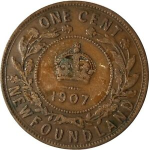 1907 LARGE CENT NEWFOUNDLAND  CANADA CIRCULATED SEE PHOTOS FOR GRADE