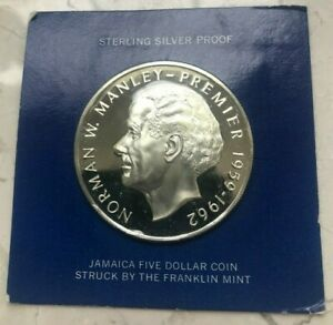 Click now to see the BUY IT NOW Price! 1973 JAMAICA 5 DOLLARS SILVER PROOF   NORMAN MANLEY