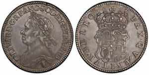 Click now to see the BUY IT NOW Price! ENGLAND. OLIVER CROMWELL 1658 AR HALFCROWN. PCGS AU58 LONDON SCBC 3227A; ESC 447