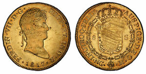 Click now to see the BUY IT NOW Price! GUATEMALA. FERDINAND VII. 1817 NG M AV 8 ESCUDOS. PCGS AU53 KM 71; FR. 22.