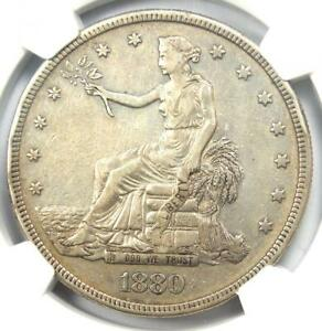 1880 PROOF TRADE SILVER DOLLAR T$1 COIN   CERTIFIED NGC PROOF XF DETAIL  PF PR