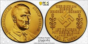 Click now to see the BUY IT NOW Price! G043 1933 GERMANY MATTE GOLD MEDAL  PCGS SP 67