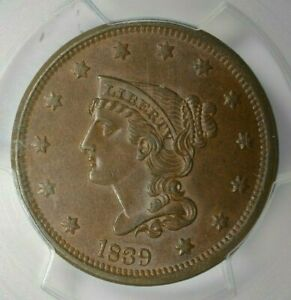 Click now to see the BUY IT NOW Price! 1839 1C TYPE OF 1840 PCGS MS63 BN CAC
