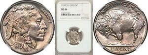 Click now to see the BUY IT NOW Price! 1937 D 3 LEG BUFFALO NICKEL 5C NGC MS66