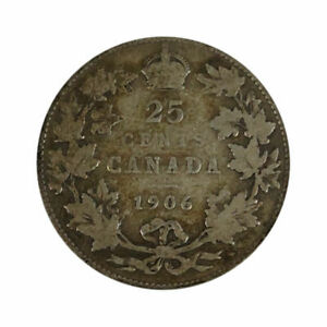 Click now to see the BUY IT NOW Price! 1906 CANADA 25 CENT COIN   ANACS G6