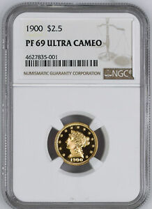 Click now to see the BUY IT NOW Price! 1900 LIBERTY HEAD $2.5 NGC PR 69 DCAM