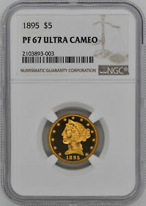 Click now to see the BUY IT NOW Price! 1895 LIBERTY $5 NGC PR 67 DCAM