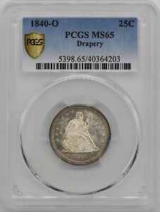 Click now to see the BUY IT NOW Price! 1840 O LIBERTY SEATED 25C PCGS MS 65