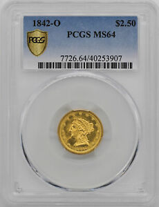 Click now to see the BUY IT NOW Price! 1842 O LIBERTY HEAD $2.5 PCGS MS 64