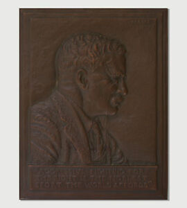 JAMES EARLE FRASER THEODORE ROOSEVELT BRONZE PLAQUE